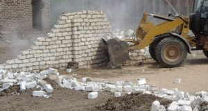 حملة مكبرة لأزالة التعديات على الاراضى الزراعية بصان الحجر (1)