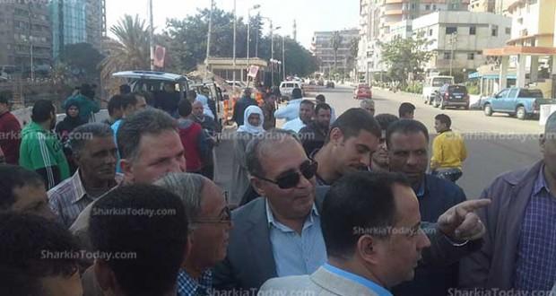 محافظ الشرقية يتفقد الحالة الأمنية بمدينة الزقازيق
