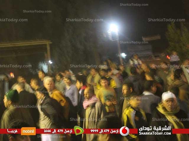 تشييع جنازة الشهيد «محمد فتحي حسن» وسط هتافات المناهضة للإرهاب بفاقوس