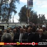شاهد | تشييع جثمان شهيد الطالبية في مسقط رأسه بمنيا القمح بحضور قيادات أمنية