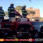 شاهد | أهالي كفر صقر يشيعون جنازة الشهيد محمد السحيلي
