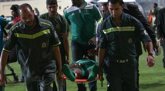 لاعب ليوبار يخسر حياته الرياضية عقب التحامه مع حارس الزمالك