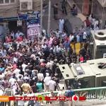 بالفيديو .. الأمن المركزى يفض اعتصام أمناء الشرطة بمديرية أمن الشرقية بالقوة