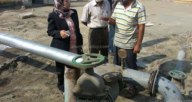 رئيس مدينة القنايات تتفقد محطة مياه الشرب بالمدينة (2)