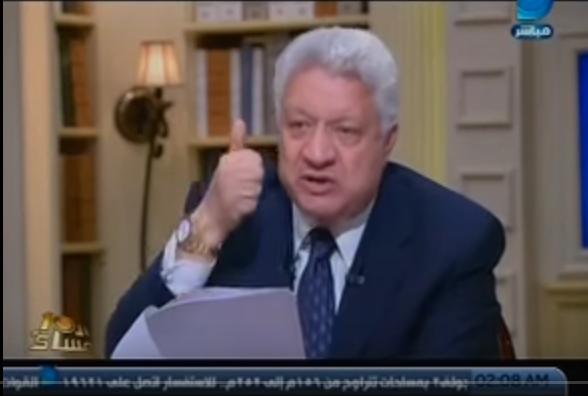 مرتضى منصور لن أتنازل عن رئاسة مجلس النواب إلا لـالزند