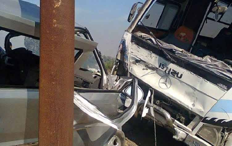 مصرع وإصابة 6 أشخاص فى حادث تصادم بمنيا القمح