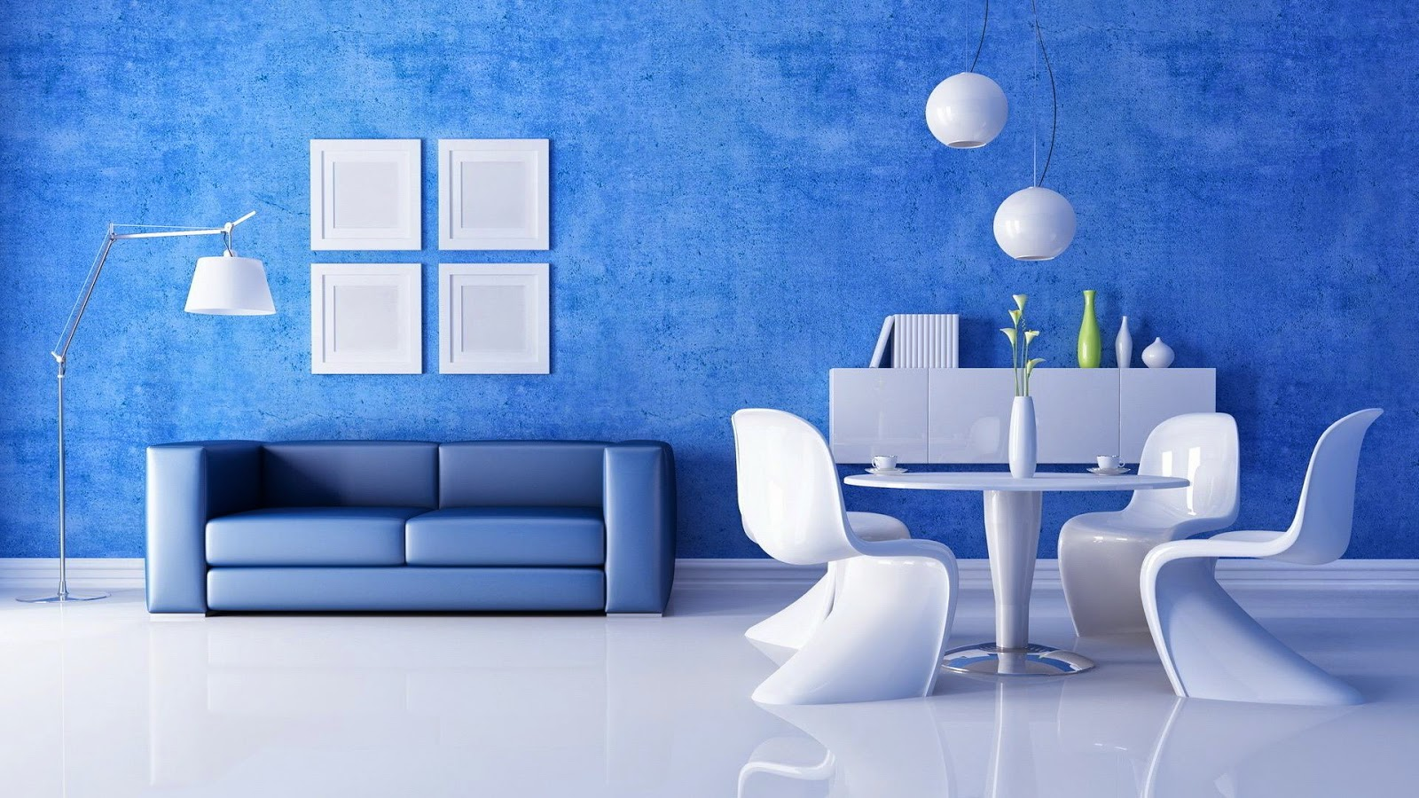 Interior Rumah Minimalis Warna Biru 6