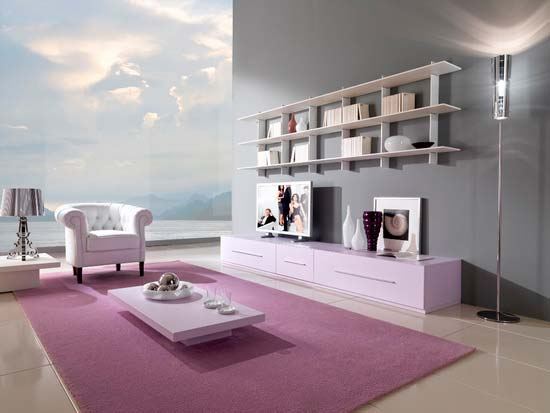 Minimalist-pink-living-room-interior-design