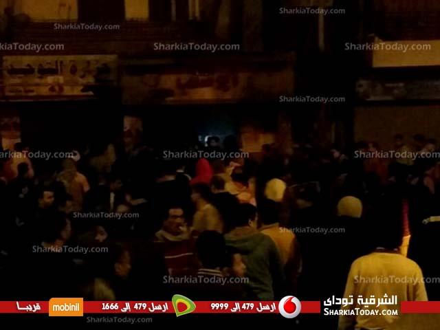 حريق هائل بمطعم أبو شنب بالزقازيق