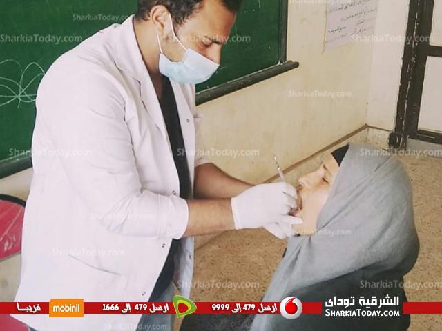 فريق صيدلي الخير ينظم قافلة طبيبة بقرية بني صالح ببلبيس (1)