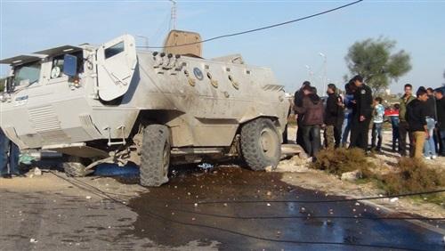 استشهاد ضابط ومجند في انقلاب مدرعة بشمال سيناء