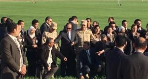 الرئيس عبدالفتاح السيسى أثناء افتتاح مشروع 1.5 مليون فدان