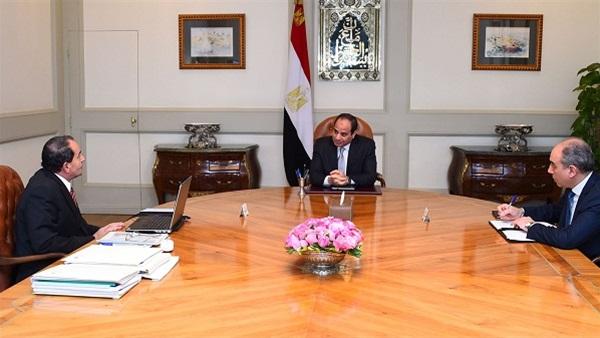السيسى يلتقى وزير الزراعة