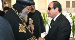 السيسي يهنئ البابا تواضروس بعيد القيامة المجيد