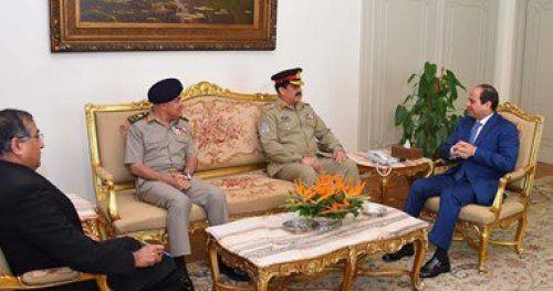 السيسى يبحث مع رئيس أركان القوات البرية الباكستانية تعزيز علاقات البلدين