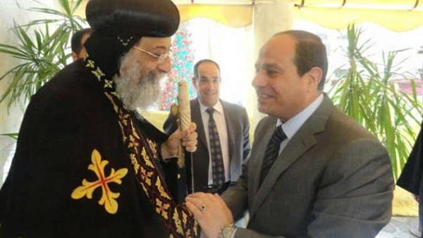بدء لقاء السيسى و تواضروس وقيادات الكنيسة بالرئاسة