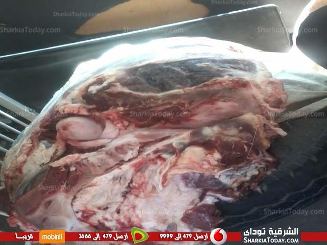ضبط 40 كيلو لحم غير صحي بالقنايات