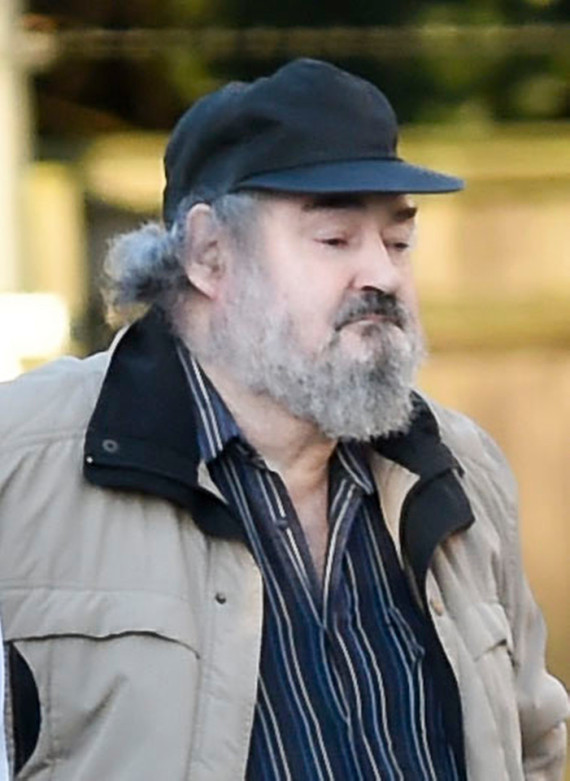 © Ian Whittaker. 26/09/2015 Serial killer Peter Sutcliffe, 'The Yorkshire Killer' arrives at Frimley Park Hospital, Hants in a unmarked blue transit van. The 69 year was old accompanied by six guards and was not handcuffed. He visited the hospital's eye clinic through a side door arriving at 7.45 am and stayed for one hour on Saturday morning (26/9/15). Photo credit : Ian Whittaker