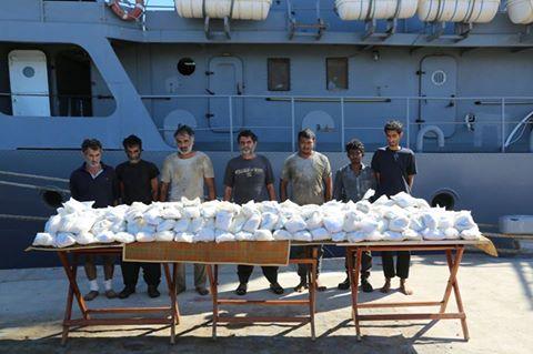 البحرية تحبط إدخال 171 كيلو هيروين إلى مصر
