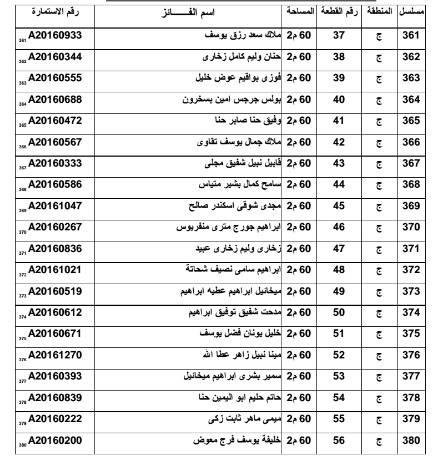 أسماء الفائزين بـ 500 قطعة أرض لمدافن المواطنين الأقباط بالعاشر من رمضان 103