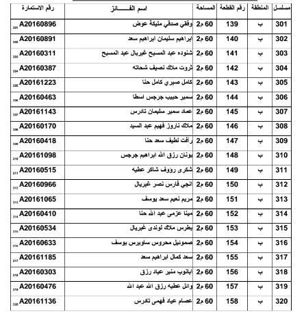 أسماء الفائزين بـ 500 قطعة أرض لمدافن المواطنين الأقباط بالعاشر من رمضان 3