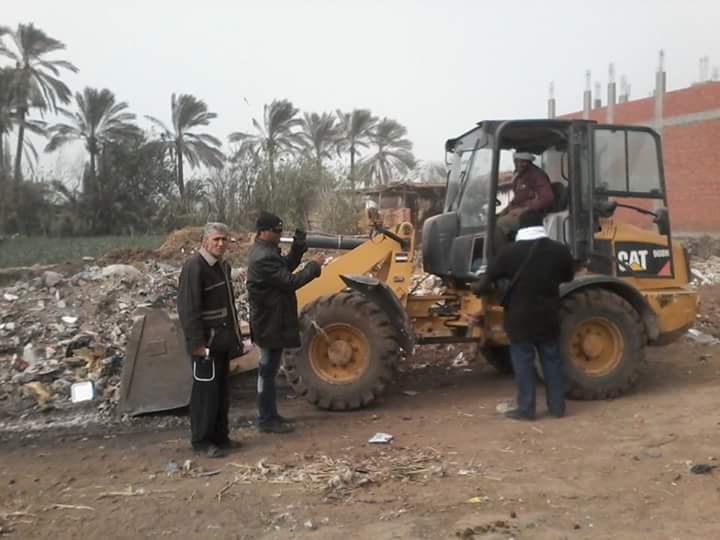 .. حملة نظافة مكبرة بشوارع مركز منيا القمح 3