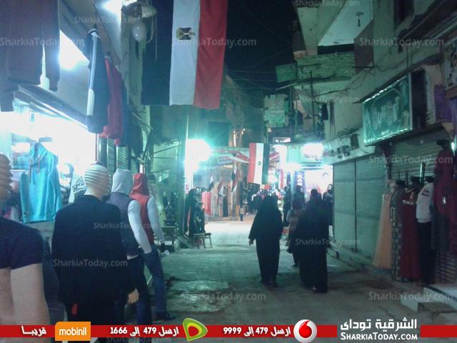 .. شوارع مدينة كفر صقر تتزين بالأعلام قبل مباراة مصر والكاميرون 3