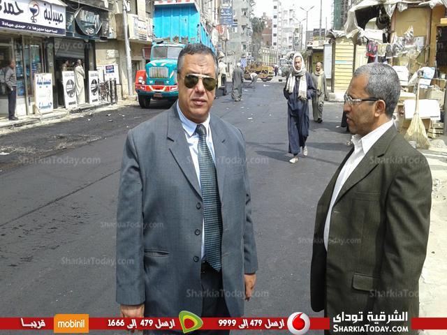 أعمال رصف شارع المستشفى بكفر صقر2563