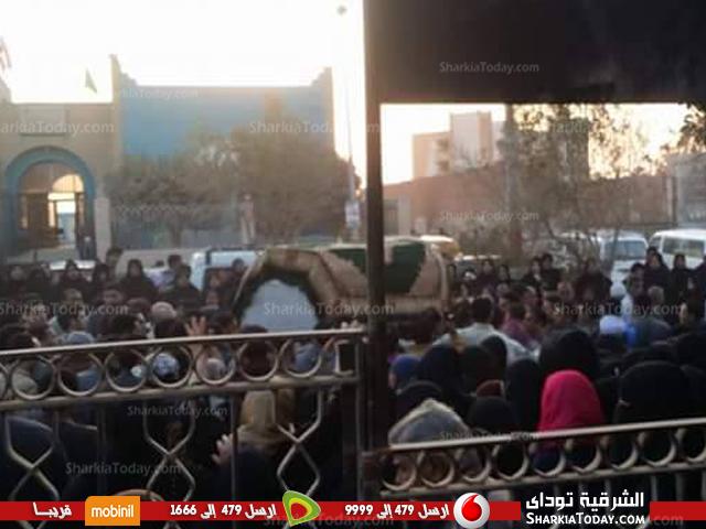 مهيبة لطالبة جامعة الزقازيق بعد مصرعها في حادث 3
