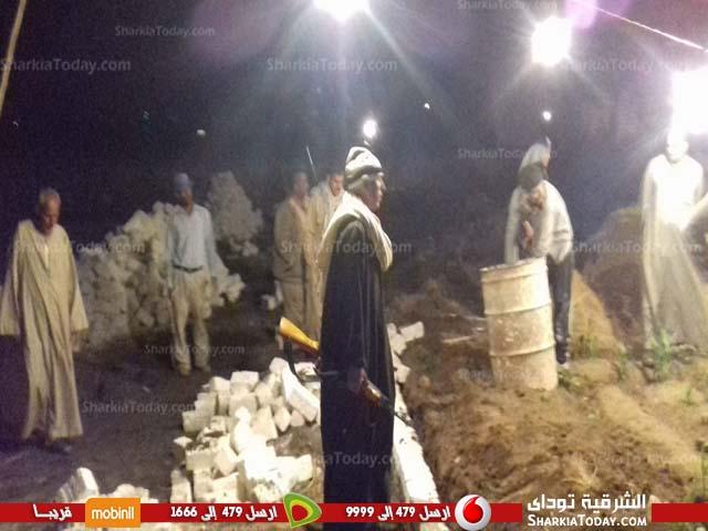 لإزالة التعديات علي الأراضي الزراعية ليلاً بقرية «الروضة» بفاقوس 3