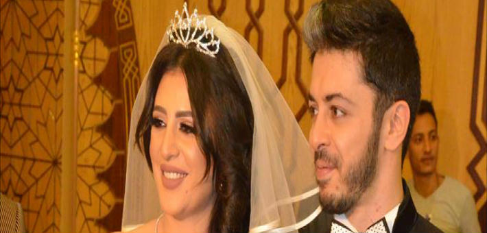 هيثم محمد تتعرض لموقف محرج أثناء عقد القران