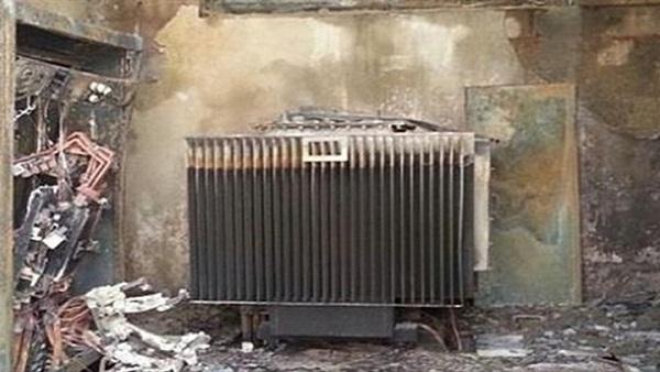 حريق بمحول كهرباء بمنشأة أبو عمر