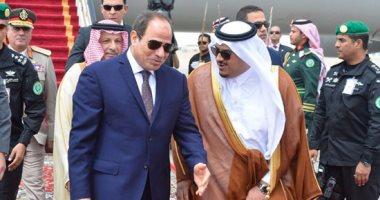 السيسي يصل مركز الملك عبد العزيز للمشاركة في فعاليات قمة الرياض