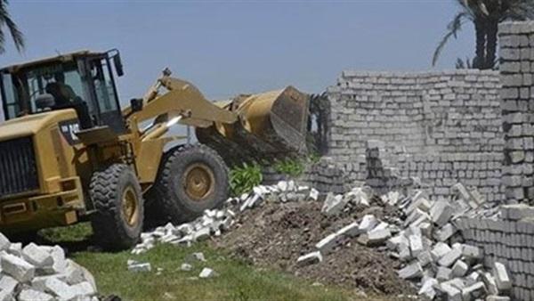 التاسع على التوالي .. إزالة 166 حالة تعدي على الأرض الزراعية بالشرقية
