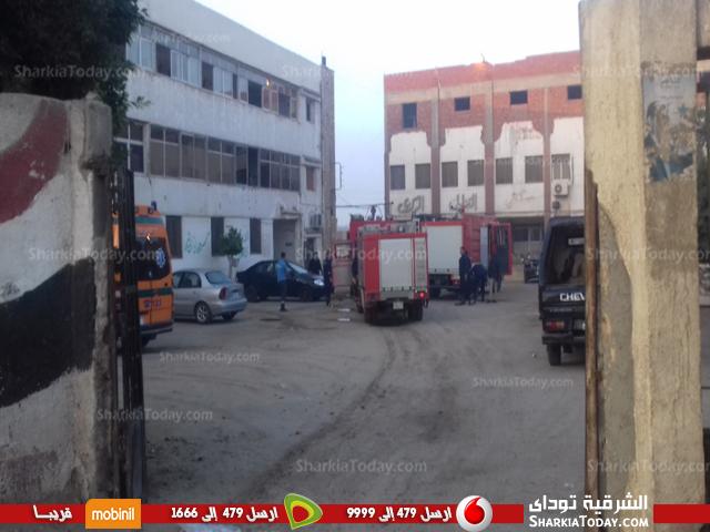 4سيارات إطفاء لإخماد حريق بمستشفى القنايات المركزي