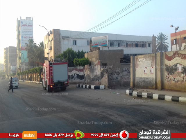4سيارات إطفاء لإخماد حريق بمستشفى القنايات المركزي36