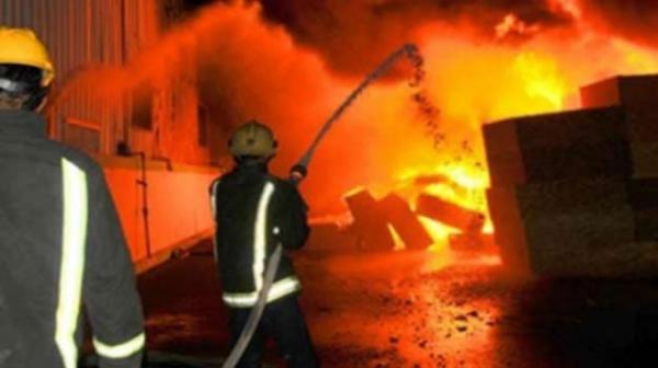 حريق مصنع الغزل والنسيج بالعاشر من رمضان