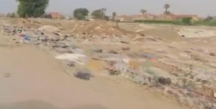 .. معاناة قرية «البساتين» ببلبيس من تلات القمامة وتفشي الأمراض 3