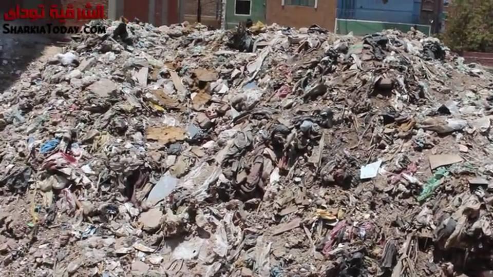 القمامة تغزو مدينة الزقازيق