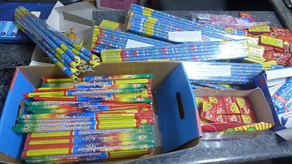 كمية من الألعاب النارية المحظورة بأبوكبير