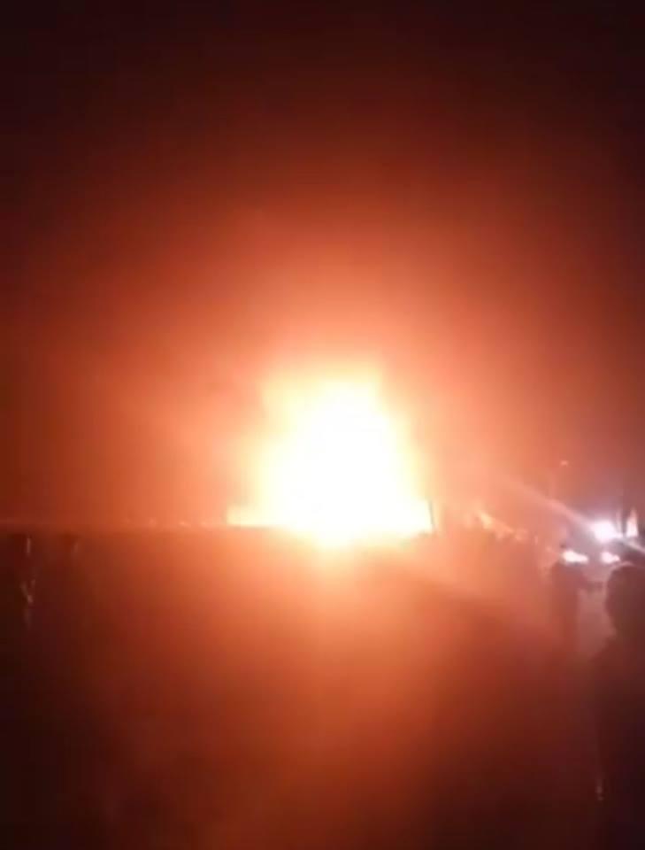 حريق هائل بمحطة بنزين بمنيا القمح 2