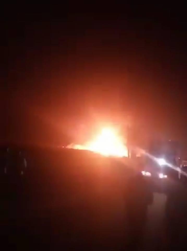 حريق هائل بمحطة بنزين بمنيا القمح 3
