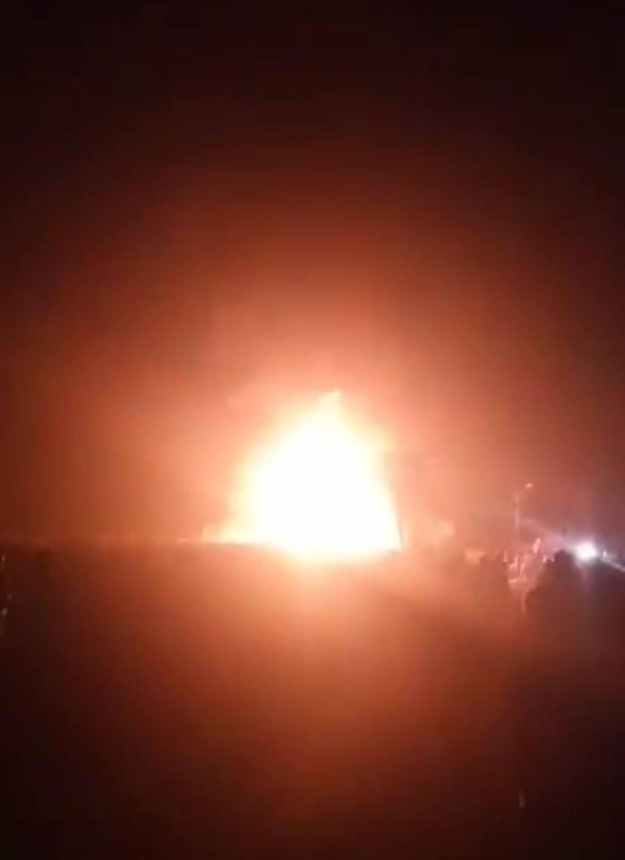 حريق هائل بمحطة بنزين بمنيا القمح 4