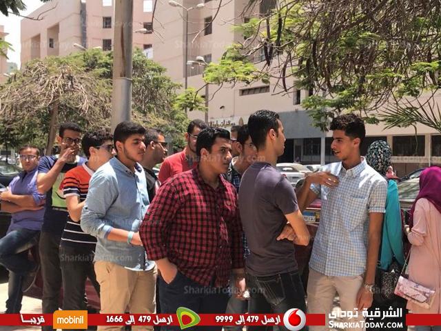 احتجاجية لطلاب كلية الطب البشري جامعة الزقازيق