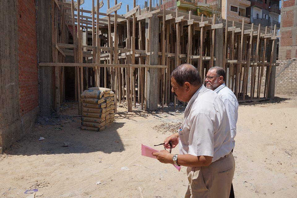 أعمال إنشاء «مكتب عمل» بكفر صقر 2