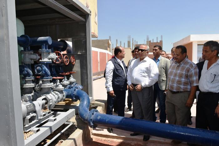 الشرقية يتفقد عمل المعدات الجديدة بمحطة مياه مشتول السوق 1