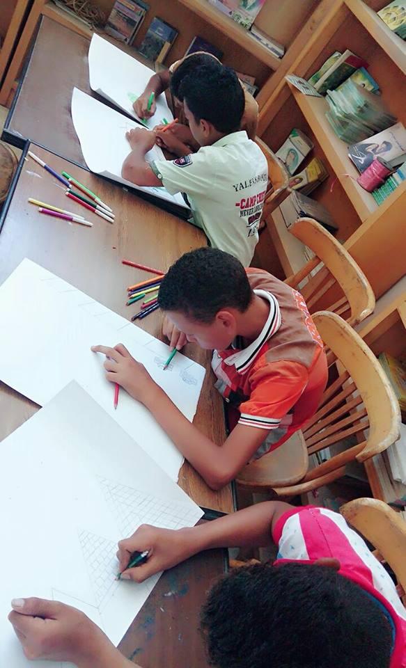 7انطلاق نهائيات مسابقة الرسم بالأماكن المفتوحة للطلائع بالشرقية 1