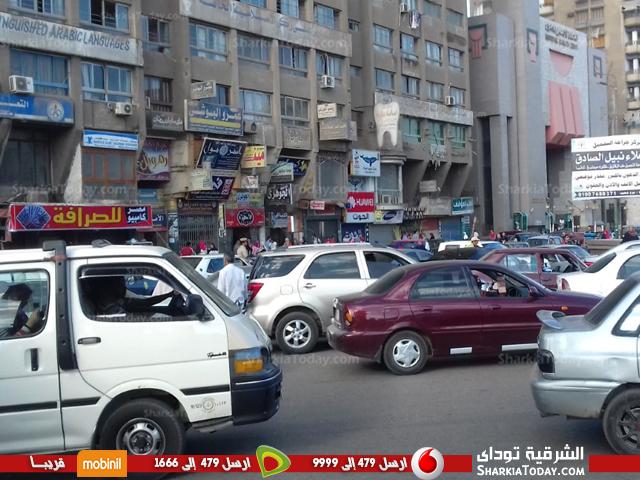 شلل مروري بمدينة الزقازيق بالتزامن مع أول يوم دراسة   الشرقية توداي