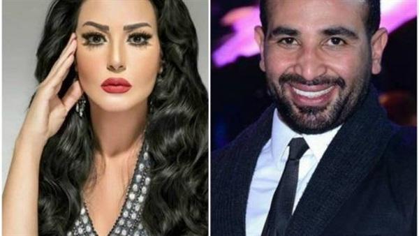 بين أحمد سعد وسمية الخشاب بسبب طليقها