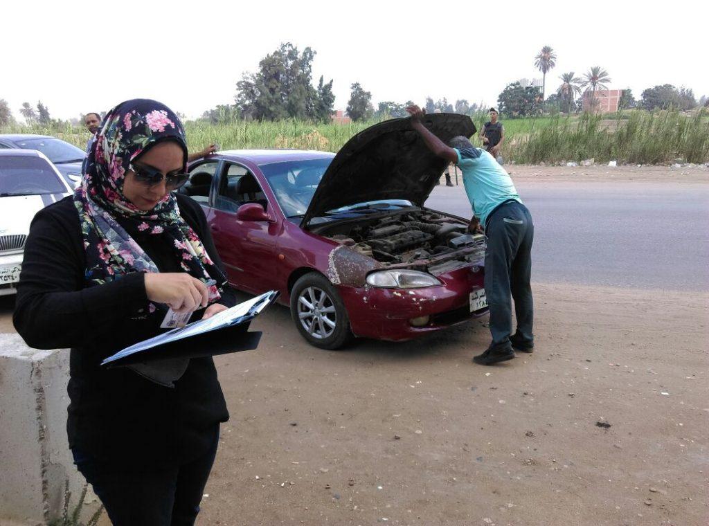 تشن حملة لضبط السيارات المخالفة بطريق «الزقازيق ديرب نجم»
